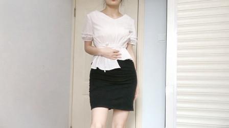 辣妈穿了条假包裙,怕穿不稳掉下来,直接用订书机订上