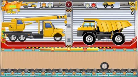 运输工程车拼图组装 休闲益智游戏
