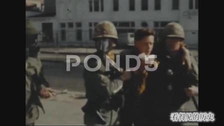 历史回放 1968年美国华盛顿黑人骚乱 美国政府派兵镇压