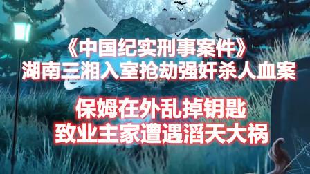 《中国刑事纪实》保姆乱放钥匙,导致业主家遭遇滔天大祸血案