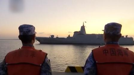 海上再遇055,强悍战力并非导弹火炮,信息化雷达才是关键所在