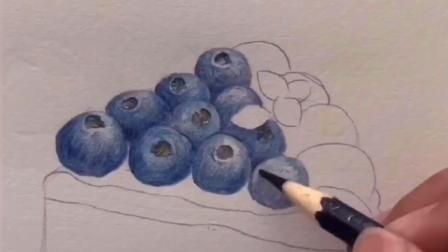 写实蓝莓蛋糕怎么画