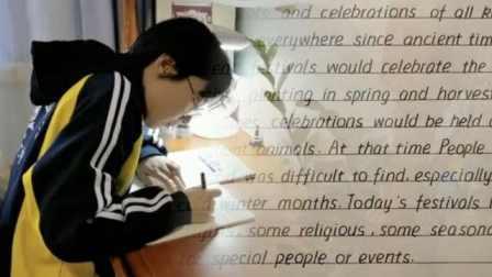 """衡水二中学生闭门练书法,中英文书写堪比""""印刷体"""""""