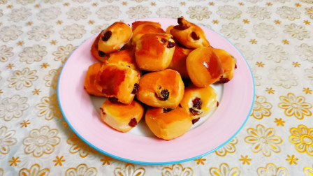 教你做蔓越莓优格小面包块,简单易学,软香味浓,酸甜可口
