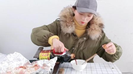 锡纸培根金针菇卷,做法简单,一锅不够吃