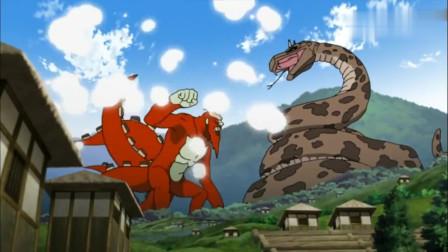 火影忍者:同时对5只尾兽,大蛇丸你受得了吗?结果还是变成小白蛇跑路了!