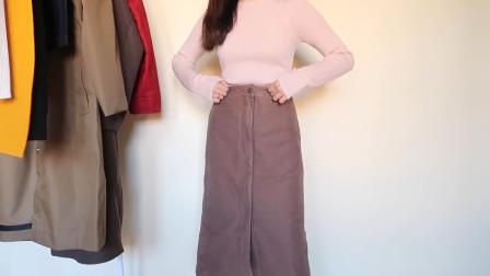 春季看似简单的直筒半裙,可以让你穿出别致的法式风,时髦减龄