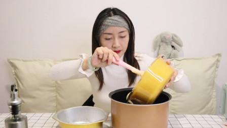 传言电饭锅能做蛋糕,大梦梦学做出来发现竟如此简单