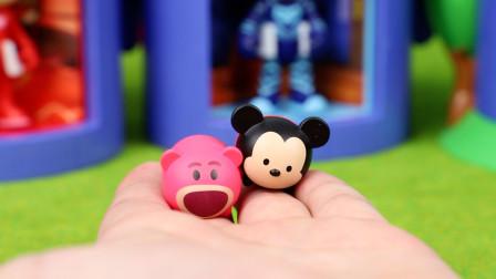 趣盒子玩具 第一季 迪士尼松松巧克力奇趣惊喜蛋得到可爱的米老鼠