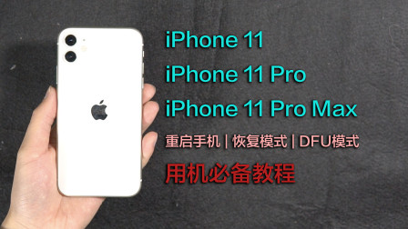 iPhone 11 & 11 Pro用机必备教程:重启手机、恢复模式、DFU模式
