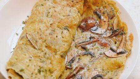 【Fennel】谁说没有玉子锅就不能做蛋卷?平底锅也可以做的蘑菇蛋卷