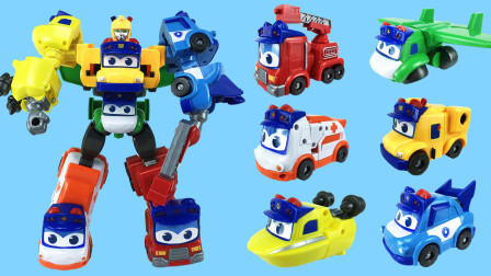 超酷的百变校巴六合体变形机器人玩具,六款变形汽车你喜欢哪一位?