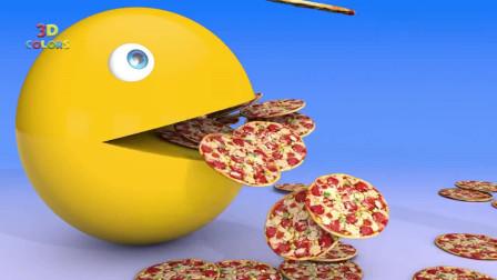 吃豆大作战:爱吃披萨的吃豆人 精彩动画