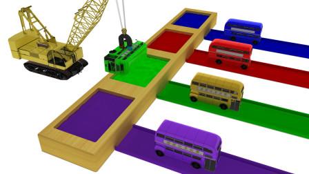 大吊车的磁铁 会帮巴士染上什么颜色呢?