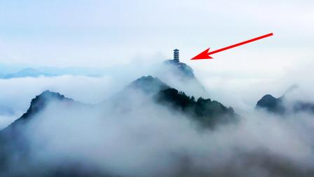 贵州盘州市,海拔1888米山顶上的雄伟建筑,怎么建上去的