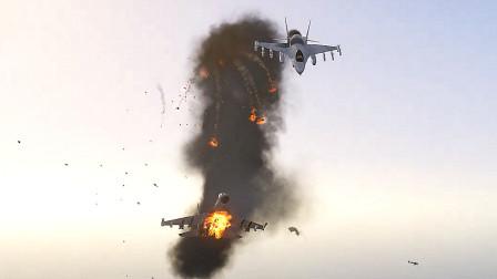 模拟飞行-苏30战斗机空中对战美国F16战斗机
