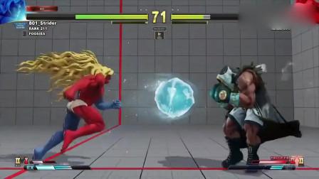街霸5:吉尔VS拳王,冲击性太强,防守方容易崩溃!