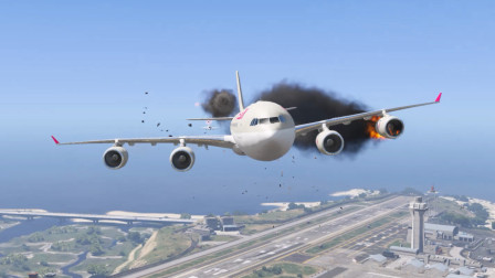 模拟飞行-空客A340飞机误入军事基地