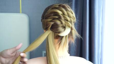 发型教程-手把手教你学会简单的法式盘头