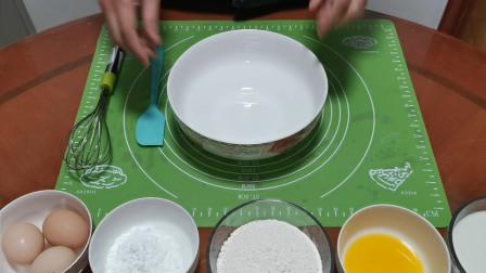 在家里用最简单的工具,制作水果千层蛋糕,样子有点丑但好吃!