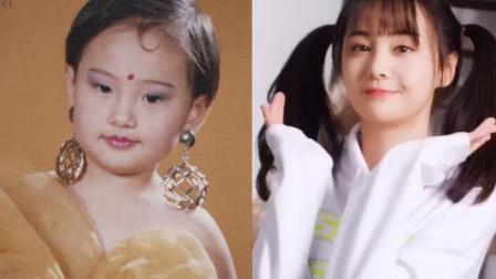 郑爽晒童年艺术照,曾经的她一脸的婴儿肥, 而且很喜欢戴耳环