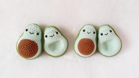 钩针编织:超级可爱牛油果宝宝,靠在一起好有爱花样图片