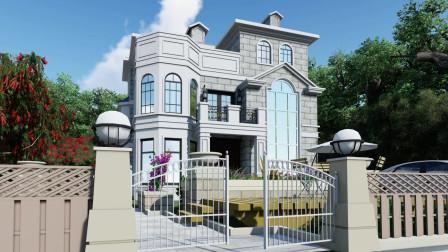 村里最靓的仔 50多万建三层欧式别墅 农村自建房轻钢别墅设计/施工