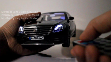 7colorBenz(字幕)Mercedes-Benz S-Class 2018 Black NOREV 1/18Modified by qingche...
