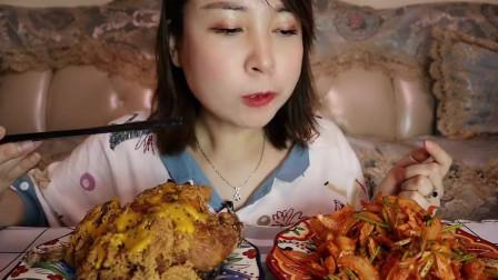 美食吃播:大胃王小姐姐吃香辣拌牛肚,大口吃的真过瘾!