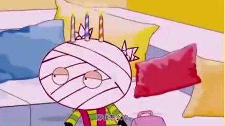 搞笑阿衰:阿衰没钱买蛋糕把蜡烛插在大脸妹头上,大脸妹怎么吹啊?