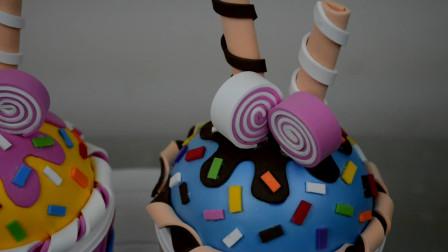 创意手工——用海绵纸做冰激凌