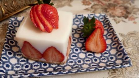 用牛奶盒做的抹茶生乳酪蛋糕[免烤箱甜点]
