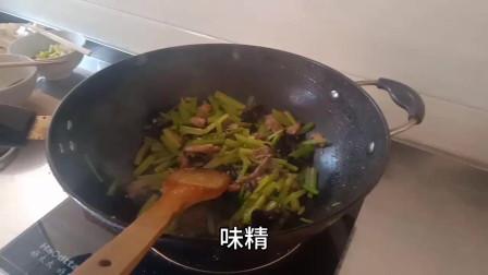 家常版的青菜炒肉