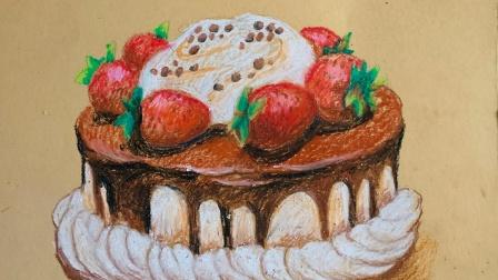 油画棒女神节蛋糕(上)