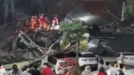 福建泉州某五层钢结构酒店突然倒塌 目击者:好多人被压住