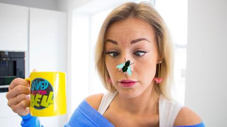 萌宝玩具:越看越搞笑!小正太的妈妈鼻子上为何会有一只蜜蜂?