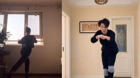 舞蹈生在家跳舞,老妈突然上镜,网友:太搞笑了!