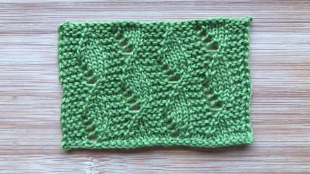 一款简洁的叶子花,螺旋式排列,简单唯美,织开衫很大方织法视频
