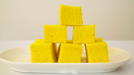 小米糕这样做,口感细腻蓬松柔软,比蛋糕还好吃特别香!