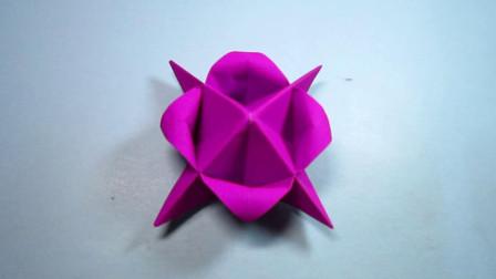 DIY手工折纸花朵,简单又漂亮,一学就会