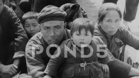 历史回放  1937年抗战爆发后逃难的中国百姓