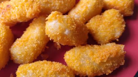 面点师教你用粘米粉做小吃,色泽金黄外酥里嫩,做少了都不够分