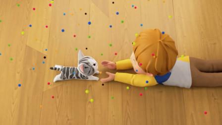 甜甜私房猫:洋平与小奇,他俩很开心,跨物种的友谊