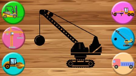 趣味工程车游戏 认识压路机 自卸卡车等工程车