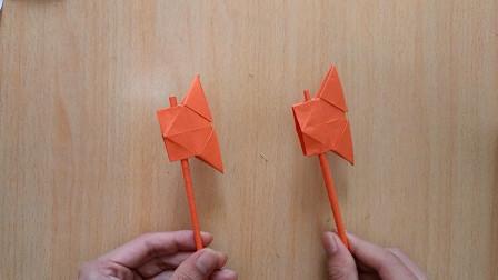 手工折纸,光头强的斧头,简单易学