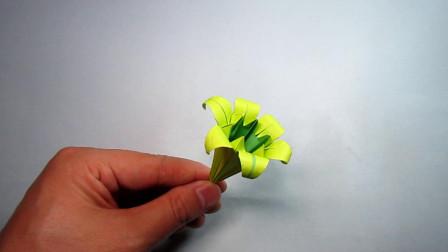DIY手工折纸,牵牛花的折法,简单易学超漂亮