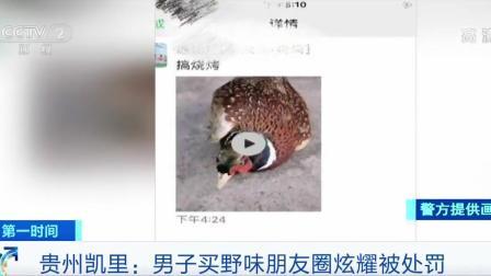 贵州凯里 焖着吃还是烤着吃?男子买野味发朋友圈炫耀被处罚