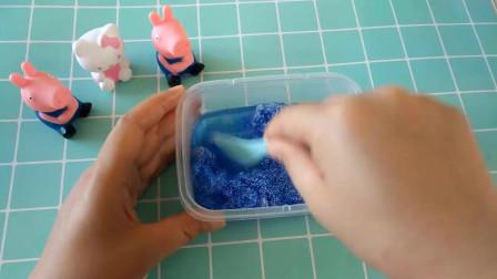 自制史莱姆冰冻黏土,手感弹弹的跟果冻一样,学生考试解压玩具