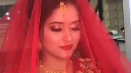 印度新娘嫁到了中国,掀开盖头看到真实颜值,是我娶不到的女神!