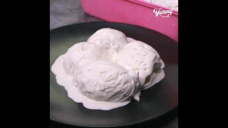 自制香草冰淇淋 只需3种配料 超简单